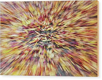 Wood Print featuring the photograph Abstract Leaves 1 by Rebecca Cozart