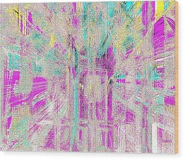 Abstract Lights  Wood Print by Fania Simon