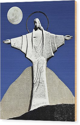 Abstract Lutheran Cross 5 Wood Print by Bruce Iorio