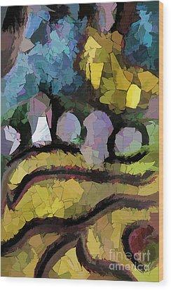 Abstract No. Three Wood Print