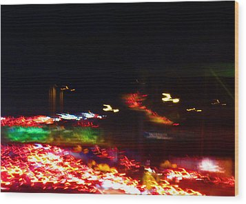 Abstract No.9 Wood Print by Mic DBernardo