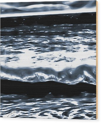 Abstract Ocean Wood Print
