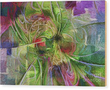 Wood Print featuring the digital art Abstract Of Color by Deborah Benoit