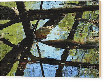 Abstract Of St Croix River 03 Wood Print