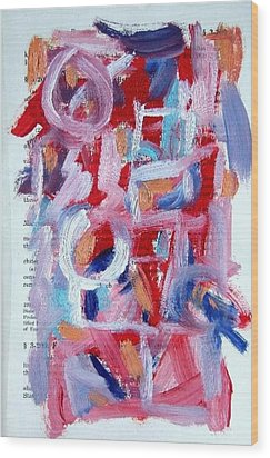 Abstract On Paper No. 30 Wood Print by Michael Henderson