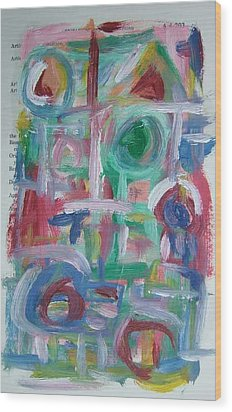 Abstract On Paper No. 38 Wood Print by Michael Henderson