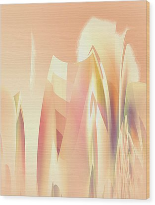 Wood Print featuring the digital art Abstract Orange Yellow by Robert G Kernodle