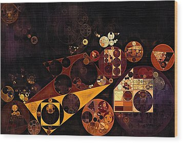 Wood Print featuring the digital art Abstract Painting - Fire Bush by Vitaliy Gladkiy