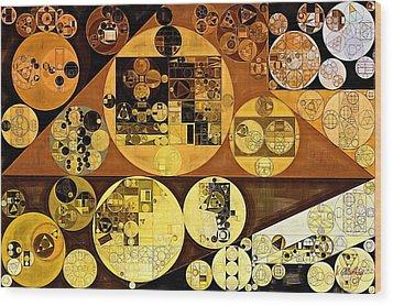 Wood Print featuring the digital art Abstract Painting - Mai Tai by Vitaliy Gladkiy