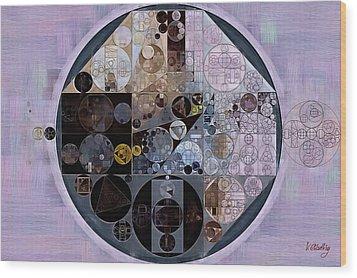 Wood Print featuring the digital art Abstract Painting - Pastel Purple by Vitaliy Gladkiy