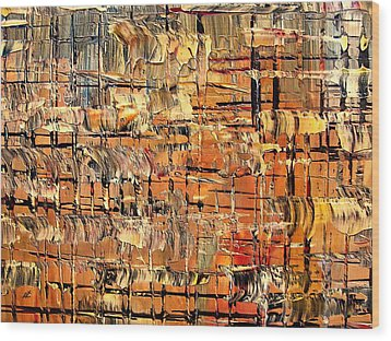 Abstract Part By Rafi Talby Wood Print by Rafi Talby
