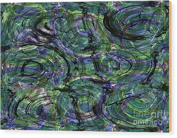 Abstract Pattern 5 Wood Print by Jean Bernard Roussilhe
