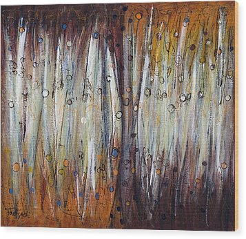 Abstract Patterns One Wood Print by Lynne Taetzsch