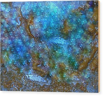 Wood Print featuring the painting Abstract-pearls Of The Sea by Sherri  Of Palm Springs