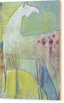 Abstract Pony No 4 Wood Print