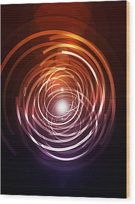 Abstract Rings Wood Print by Michael Tompsett