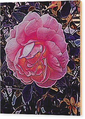 Abstract Rose 11 Wood Print