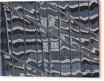 Abstract Rotterdam Wood Print