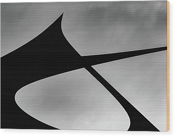 Wood Print featuring the photograph Abstract Sailcloth 198 by Bob Orsillo