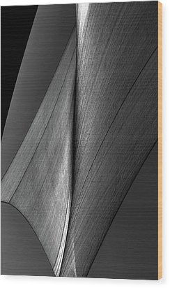 Wood Print featuring the photograph Abstract Sailcloth 199 by Bob Orsillo