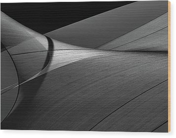 Wood Print featuring the photograph Abstract Sailcloth 200 by Bob Orsillo