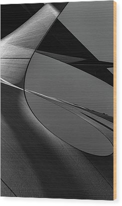 Wood Print featuring the photograph Abstract Sailcloth 202 by Bob Orsillo