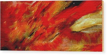 Wood Print featuring the painting Abstract-simple Red 3 by Sherri  Of Palm Springs