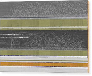 Abstract Sky Wood Print by Naxart Studio