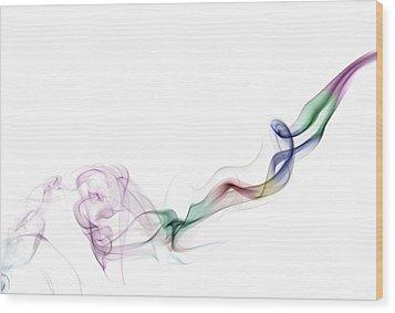Abstract Smoke Wood Print by Setsiri Silapasuwanchai