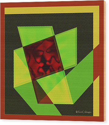 Wood Print featuring the digital art Abstract Squares And Angles by Kae Cheatham
