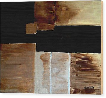 Abstract Squares Wood Print by Marsha Heiken