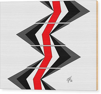 Wood Print featuring the digital art Abstract Stairs by John Wills