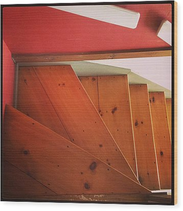 Abstract Stairs Wood Print