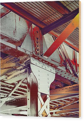 Wood Print featuring the photograph Grunge Steel Beam by Robert G Kernodle