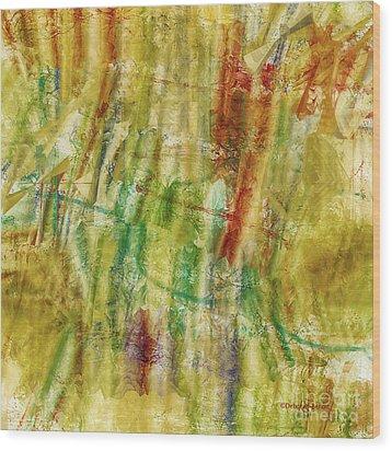 Wood Print featuring the digital art Abstract Sunday by Deborah Benoit