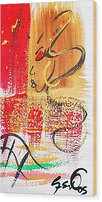 Abstract Thoughts  Wood Print by  Simone Fennell