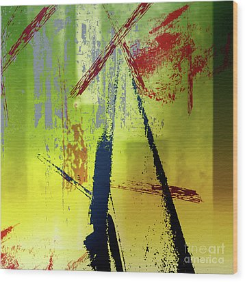 Abstract Thoughts Wood Print by Elaine Manley