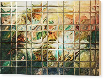 Abstract-through Glass Wood Print by Patricia Motley