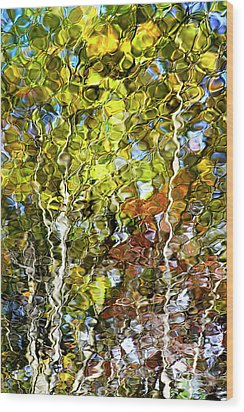 Abstract Tree Reflection Wood Print by Christina Rollo