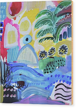 Abstract Tropical Landscape Wood Print