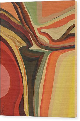 Abstract Vase Wood Print