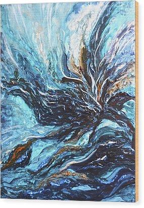 Abstract Water Dragon Wood Print