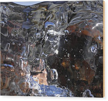 Wood Print featuring the photograph Abstract Waterfall by Sami Tiainen