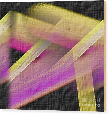 Abstract With A Black Background Wood Print by John Krakora