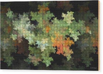 Abstract World Wood Print by Deborah Benoit