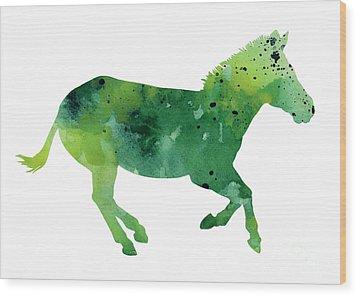 Abstract Zebra Giclee Print Wood Print by Joanna Szmerdt
