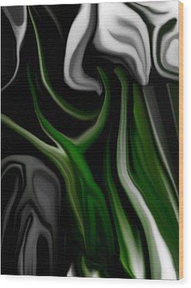 Abstract309h Wood Print by David Lane