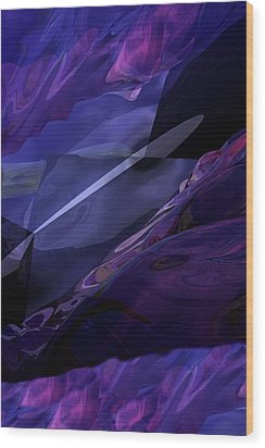 Abstractbr6-1 Wood Print by David Lane