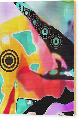 Abstractly Circular Wood Print
