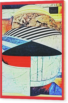 Abstracts On Red Wood Print by Bruce Iorio